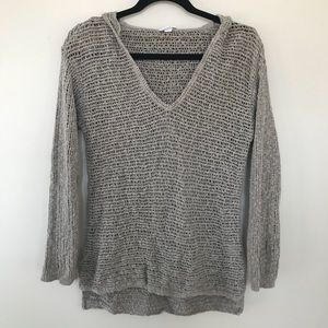 💖{XS} J. Jill Open Knit Hooded Sweater